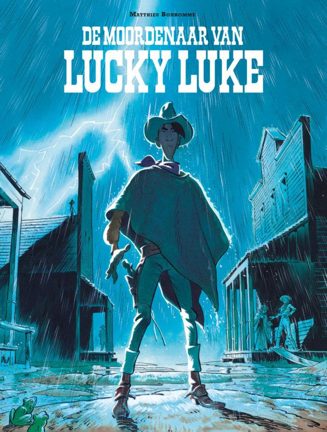 9782884713818, Moordenaar van Lucky Luke, Dargaud, Lucky Comics, Bonhomme, Strip, stripboek, stripverhaal, kopen, bestellen 70 jaar
