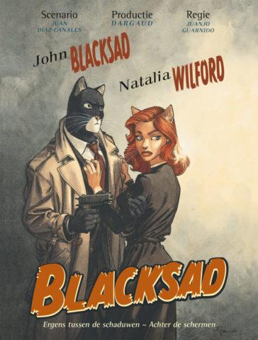 Blacksad, achter de schermen, ergens tussen de schaduwen, strip, stripboek, diaz, canales, kopen, bestellen
