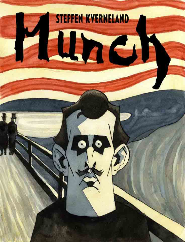 Munch, Strip, Biografie, Kverneland,, Graphic Novel