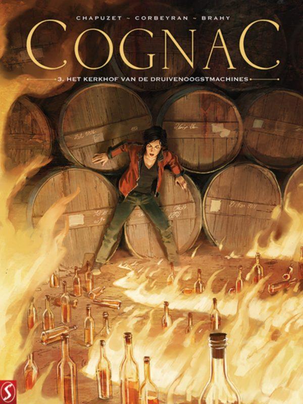 Cognac 3, kerkhof, druivenoogstmachines