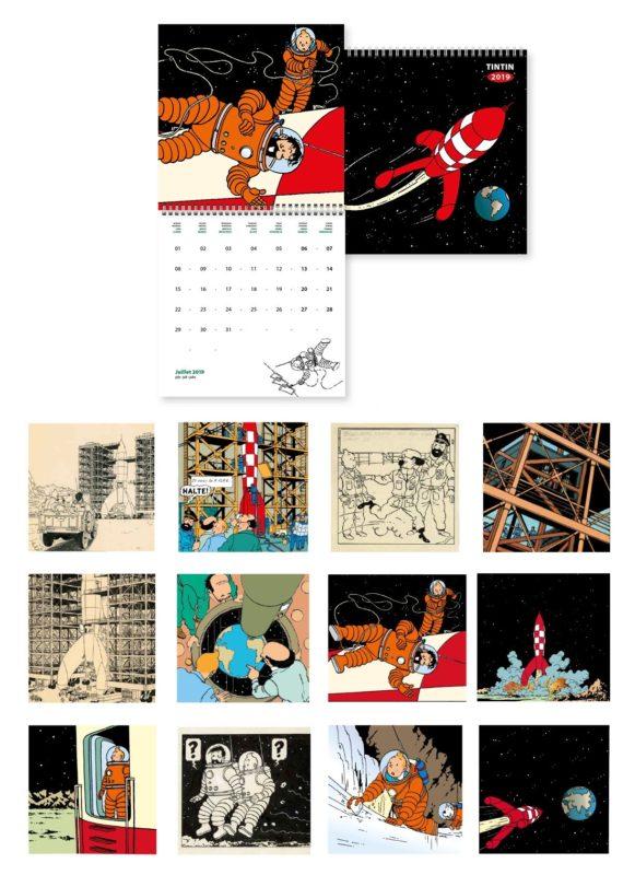 Kuifje Kalender 2019, Kalender Groot,