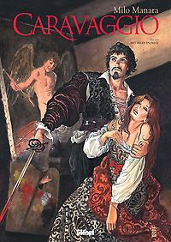 Caravaggio 1, met degen en palet