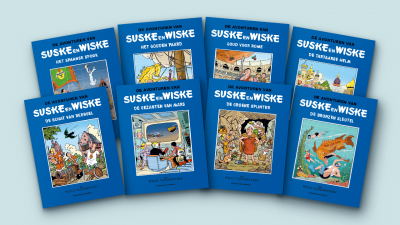 SWBRHUMO18, SUSKE EN WISKE - BLAUWE REEKS SET HUMO